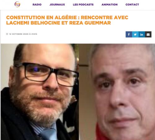 Rencontre, Interview, radio, Projet, Lachemi Belhocine, Reza Guemmar, Radio Orient
